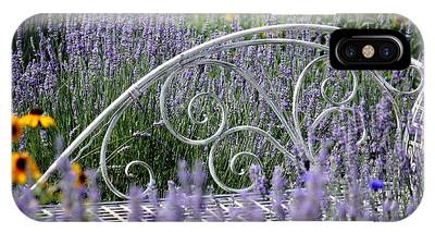 Lavender With Scrolled Settee IPhone Case