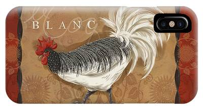Le Coq Rooster Blanc IPhone Case