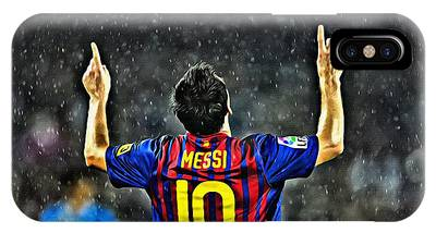 IPhone Case featuring the painting Leo Messi Poster Art by Florian Rodarte