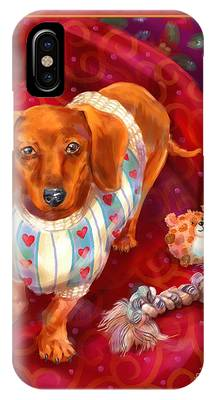 Little Dogs - Dachshund IPhone Case