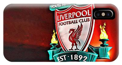 IPhone Case featuring the painting Liverpool Football Club Poster by Florian Rodarte