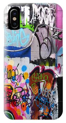 London Skate Park Abstract IPhone Case by Rona Black