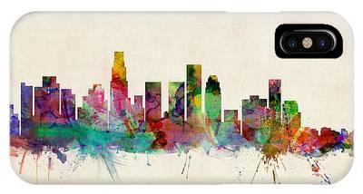 Los Angeles City Skyline IPhone Case