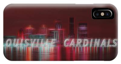 Louisville Kentucky Skyline Red Univ Of Louisville IPhone Case