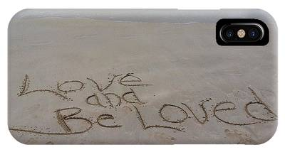Love And Be Loved Beach Message IPhone Case