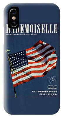 Mademoiselle Cover Featuring The U.s. Flag IPhone Case