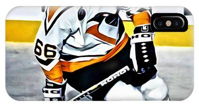 IPhone Case featuring the painting Mario Lemieux by Florian Rodarte