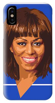 Michelle Obama Digital Art iPhone Cases