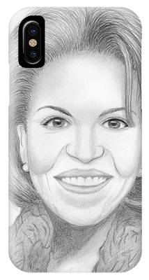 Michelle Obama Sketch Drawings iPhone Cases