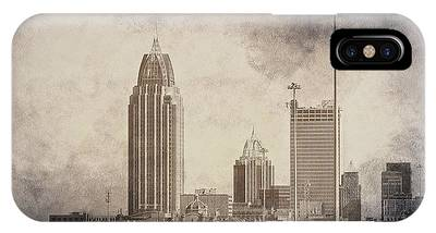 Mobile Alabama Black And White IPhone Case