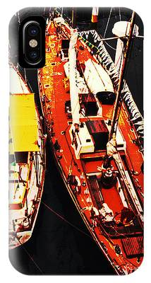 Moored Yachts IPhone Case