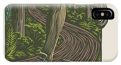 Woodcut Phone Cases