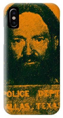 Mugshot Willie Nelson P0 IPhone Case