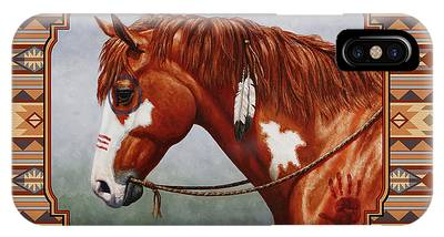 Native American War Horse Phone Cases