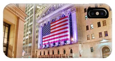 New York Stock Exchange At Night IPhone Case
