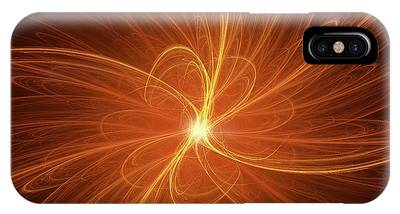 Nuclear Fusion Concept Illustration Phone Case by David Parker