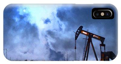 Oil Pump Field IPhone Case