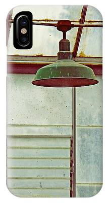 IPhone Case featuring the photograph Old Green Lamp by Patricia Strand
