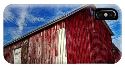 Old Red Wooden Barn IPhone Case