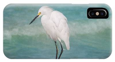 One With Nature - Snowy Egret IPhone Case