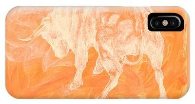 Orange Bull Negative IPhone Case