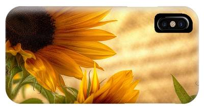 Orange Burst - Sunflower - Mike Hope IPhone Case