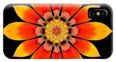 Orange Gazania I Flower Mandala IPhone Case