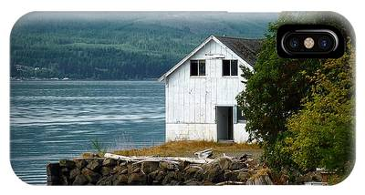 IPhone Case featuring the photograph Old Oyster Shack by Patricia Strand