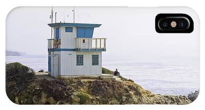 IPhone Case featuring the photograph Pacific Ocean Lookout Station Close-up by Richard J Thompson