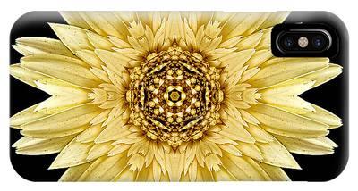 Pale Yellow Gerbera Daisy I Flower Mandala IPhone Case