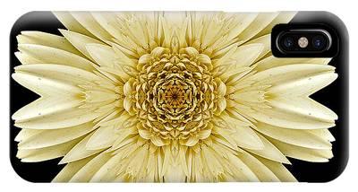 Pale Yellow Gerbera Daisy IIi Flower Mandala IPhone Case