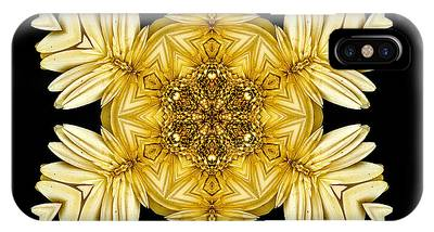 Pale Yellow Gerbera Daisy Vii Flower Mandalaflower Mandala IPhone Case