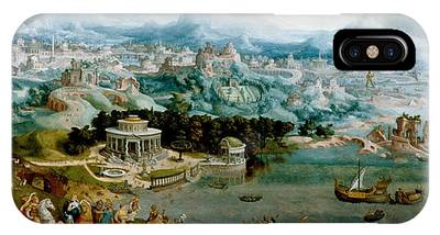 Panorama With The Abduction Of Helen Amidst The Wonders Of The Ancient World IPhone Case