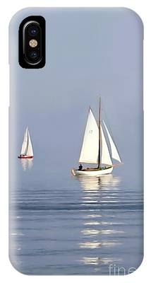 Storm Clouds Cape Cod Paintings iPhone Cases