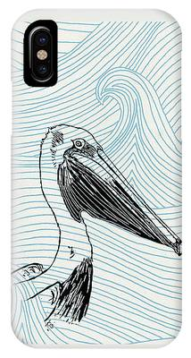 Pelican On Waves IPhone Case