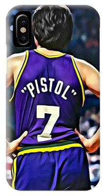 IPhone Case featuring the painting Pete Maravich by Florian Rodarte