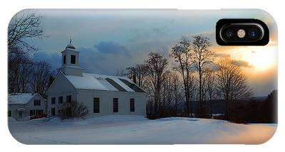 Piermont Church In Winter Light IPhone Case