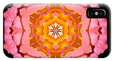 Pink And Orange Rose I Flower Mandala IPhone Case