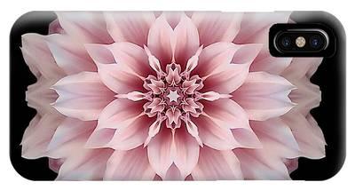 Pink Dahlia Flower Mandala IPhone Case