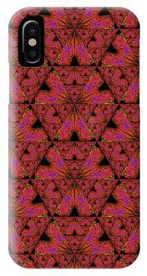 Poppy Sierpinski Triangle Fractal IPhone Case