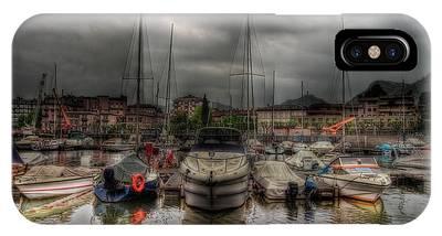 Port At Como Lake IPhone Case