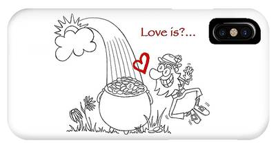 Pot Of Gold Valentines  IPhone Case