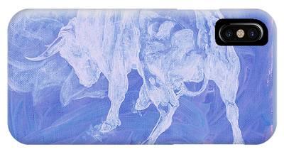 Purple Bull Negative IPhone Case