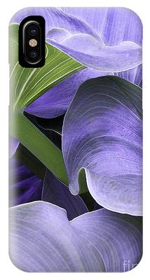 IPhone Case featuring the photograph Purple Calla Lily Bush by Richard J Thompson
