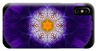 Purple Iris II Flower Mandala IPhone Case