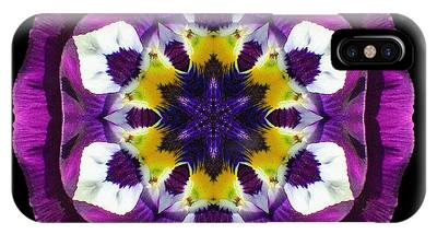 Purple Pansy II Flower Mandala IPhone Case