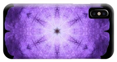 Purple Petunia I Flower Mandala IPhone Case