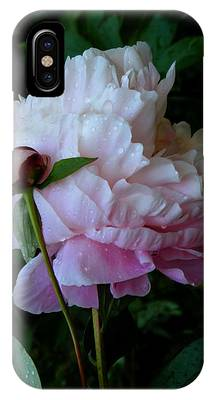 IPhone Case featuring the photograph Rain-soaked Peonies by Rona Black