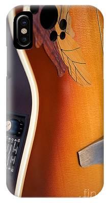 Redish-brown Guitar IPhone Case by Richard J Thompson