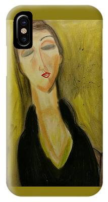 Sophisticated Lady With The Dreamy Eyes IPhone Case